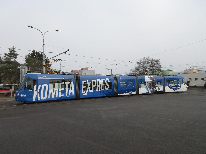 Polep tramvaje Kometa