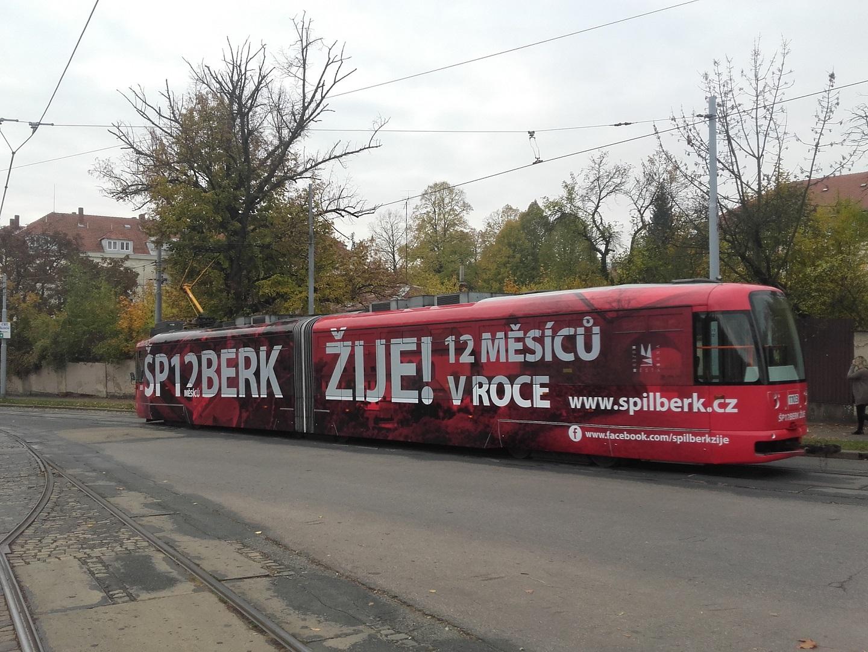 Polep tramvaje Špilberk
