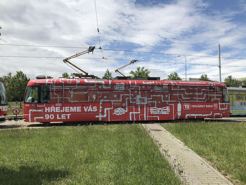 Polep tramvaje Teplárny Brno