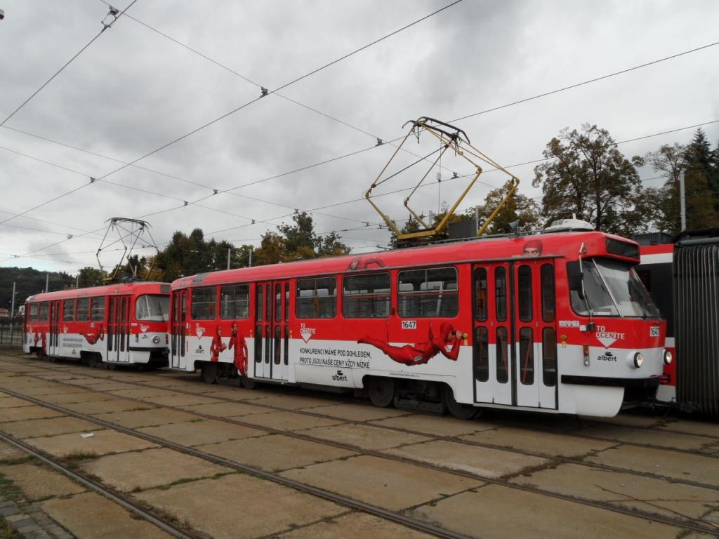 Polep tramvaje Albert