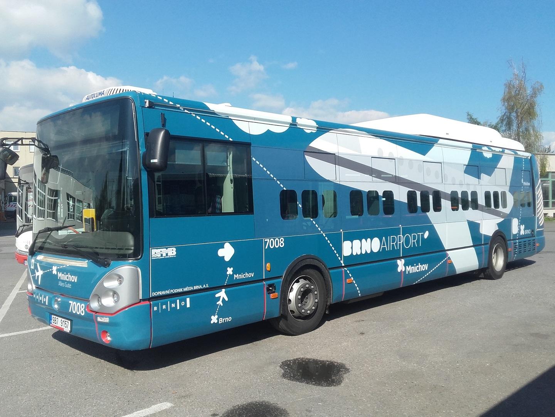 Polep autobusu Brno Airport