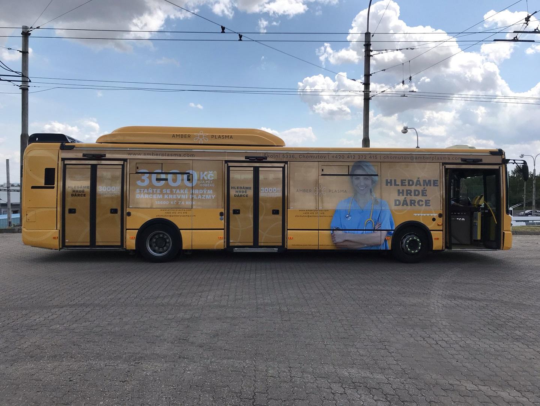Polep autobusu Amber Plasma