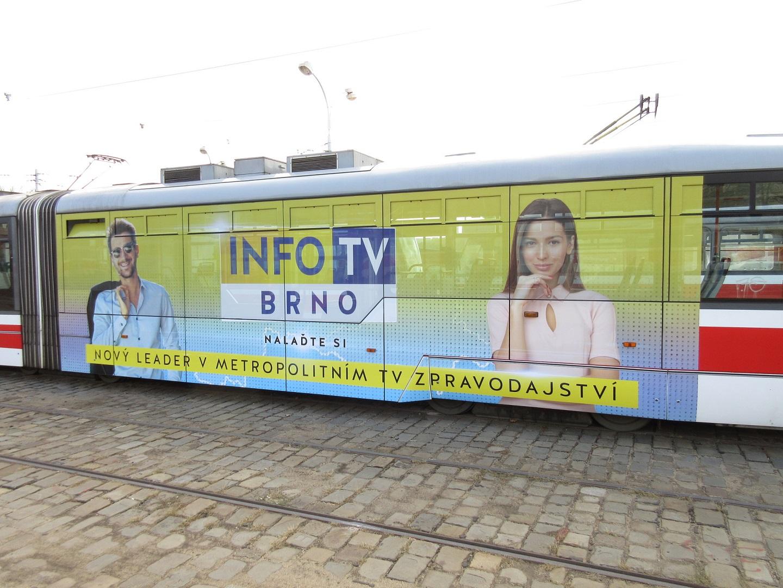Polep tramvaje InfoTV