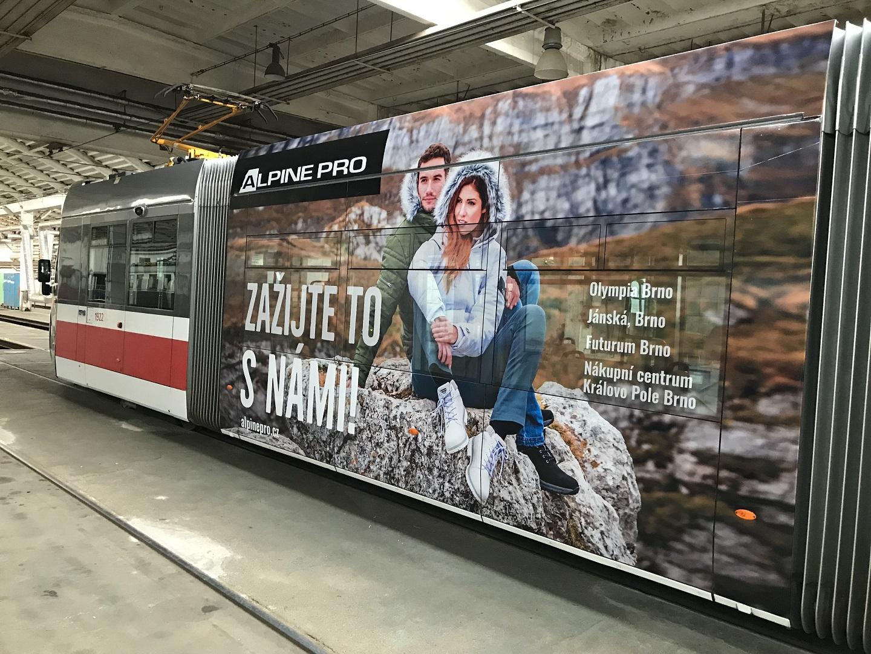 Polep tramvaje AlpinePro