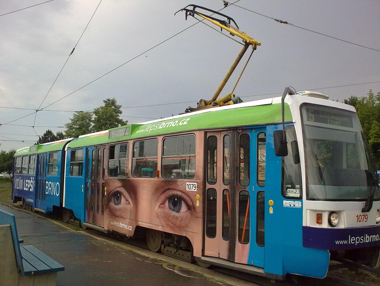 Polep tramvaje Lepší Brno