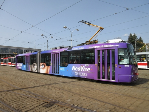 CELOPOLEP - Tramvaj Vario dlouhé (LF2) (bez oken)