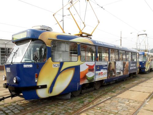 CELOPOLEP - tramvajová souprava T3 + T3 (bez oken)