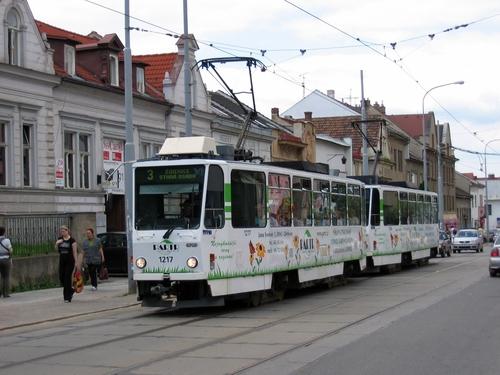 CELOPOLEP - tramvajová souprava T6 + T6 (bez oken)