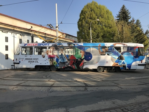 CELOPOLEP - tramvaj T3 (včetně polepu oken)