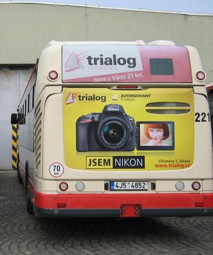Fólie na zádi autobusu Citelis plyn vč. okna (180x115 cm + 180x60 cm)