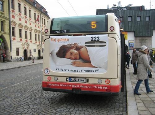 Back board - Autobus Urbanway (210x150 cm)