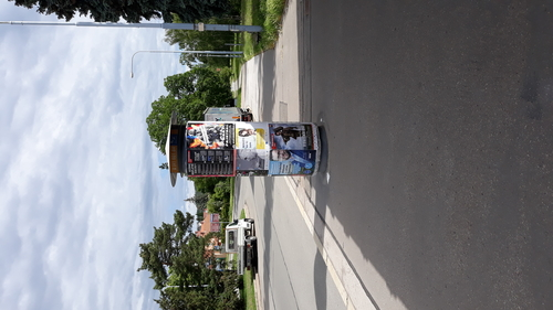 Výlep plakátu A1 na frekventovaných místech