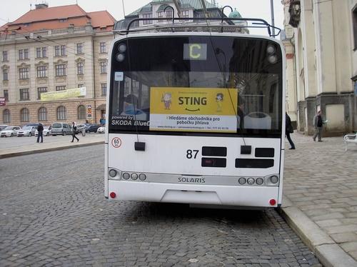 Fólie na zádi trolejbusu (240x30 cm, 130x50 cm)