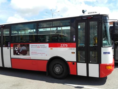 Fólie QS (220x45 cm) - trolejbus, autobus