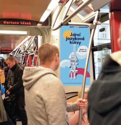 Polep kloubového spoje uvnitř tramvaje (47x37 cm)