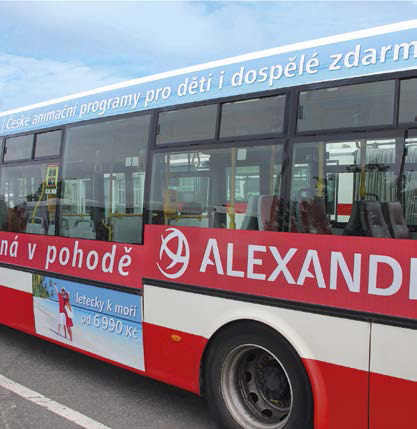 Boční polep autobusu NB 12 (rozměr dle vybrané části)