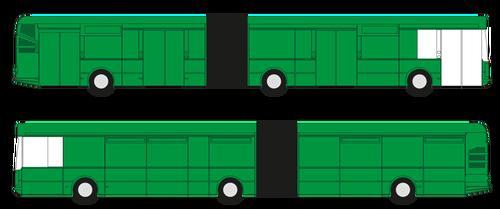 CELOPOLEP - Autobus IVECO (kloubový) (včetně oken)