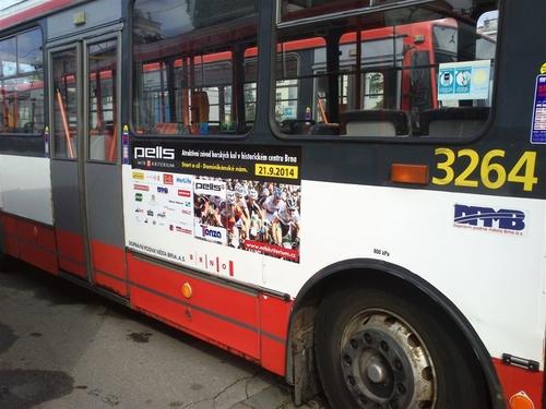 Fólie MS (170x45 cm) - trolejbus