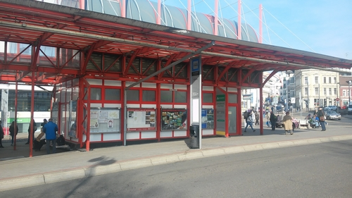 Vitrína na terminálu MHD FÜGNEROVA - standard