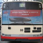 Fólie na zádi trolejbusu (cca. 240x84 cm)