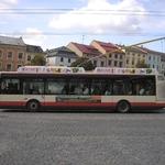 Fólie na krycí plentě na střeše trolejbusu