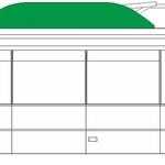 Střešní panel trolejbusu (363 x 46 cm)